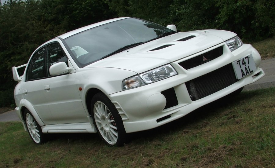 white evo6 with white oz's - mitsubishi lancer register forum